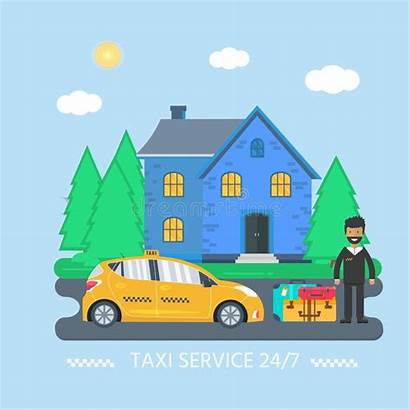Driver Cab Yellow Baggage Machine Taxi