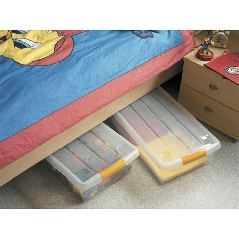 mobilier table boite plastique sous lit