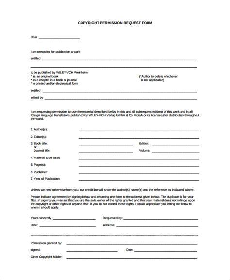 sample permission form templates