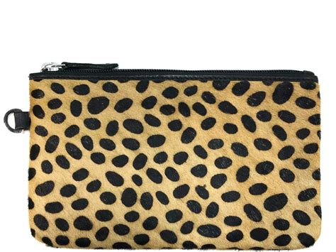 Cheetah Print Cowhide Clutch