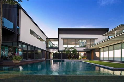 contemporary style mansion  singapore homes   rich
