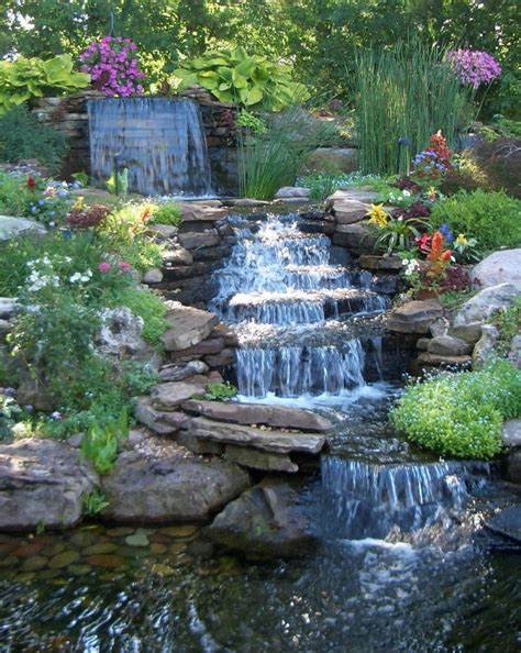 15 Backyard Waterfalls For Soothing And Peaceful Modern