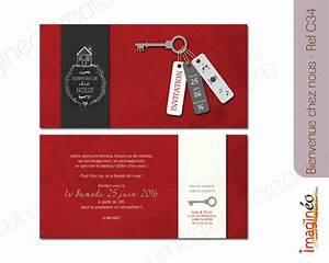 Pendaison De Crémaillère Invitation : carton d 39 invitation cr maill re bienvenu chez nous carton invitation inauguration pendaison ~ Melissatoandfro.com Idées de Décoration