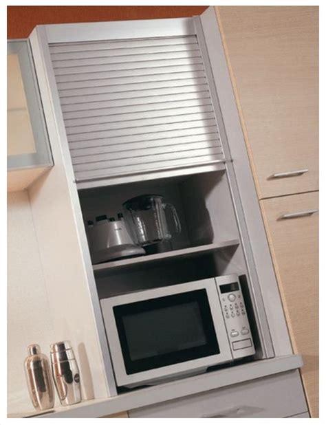 meuble avec rideau coulissant pour cuisine meuble de cuisine avec volet roulant en aluminium