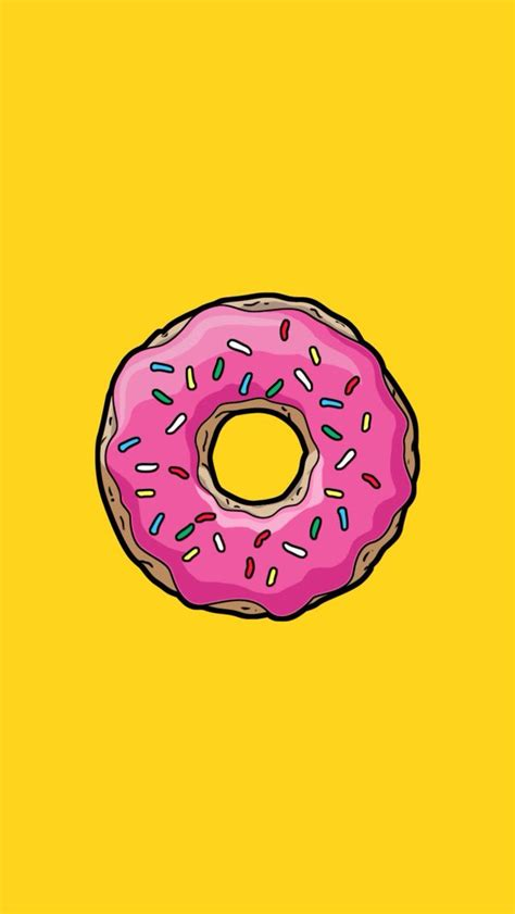 Choose from our handpicked custom iphone wallpaper collection. Flat doughnut | Simpson wallpaper iphone, Cute wallpapers, Cartoon wallpaper