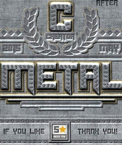 Metal Photoshop Chrome Styles Text Riveted Textures