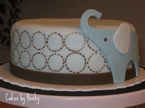cakes  becky blue elephant baby shower cake