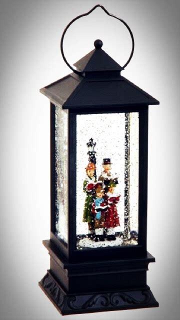 raz imports  lighted carolers water globe lantern