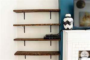 wall mounted bookcase wood roselawnlutheran With wall mounted shelf the types and simple ideas
