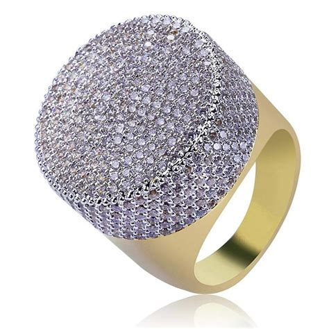 hiphop full diamond rings  men brand design cz