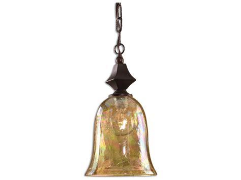 Uttermost Elba Crackle Glass Mini-pendant