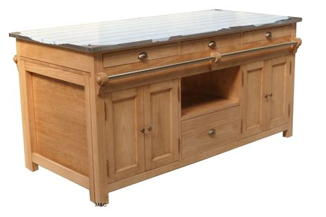meuble de cuisine ilot central ilot central cuisine en bois uzes