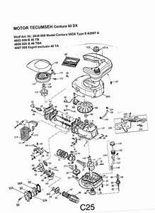 Tecumseh Vergaser Zeichnung : wolf motor benzin centura 50 dx ersatzteilzeichnung ~ Jslefanu.com Haus und Dekorationen