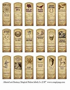 6 best images of printable potion bottle labels for How to put labels on bottles