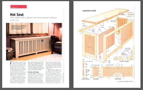 radiator cover plans  easy  follow   build