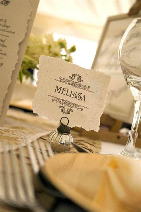 table number place cards vintage style wedding table place card by solographic art