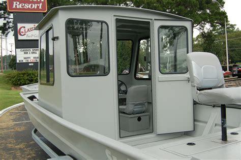 Enclosed Jon Boat by Cabin Seaark Boats Arkansas
