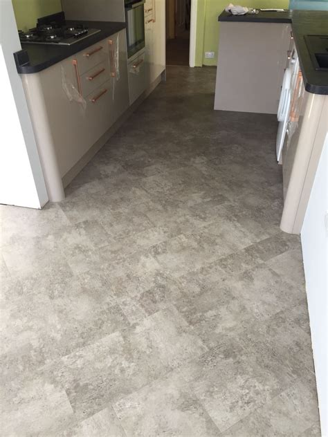 luxury vinyl tiles supplied  fitted   open kitchen