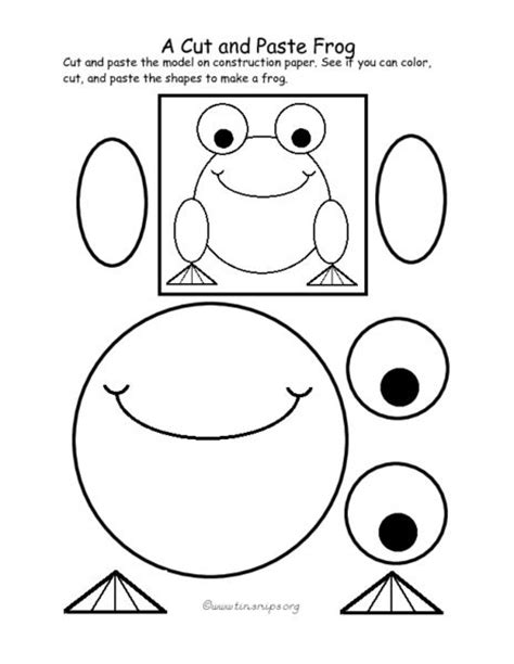 a cut and paste frog pre k 1st grade worksheet lesson planet art projects for elementary