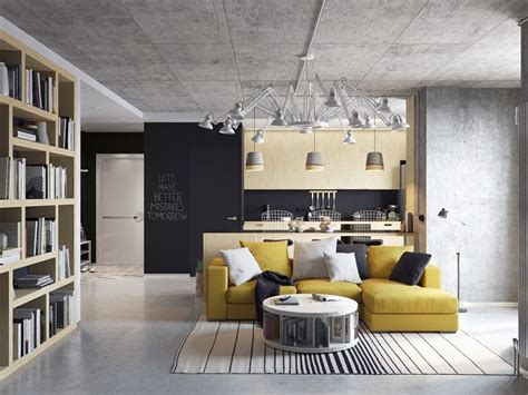 concrete lofts  wide open floor plans