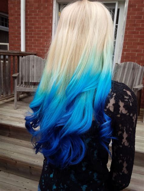 25 Best Ideas About Blue Ombre Hair On Pinterest Ombre