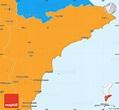 Political Simple Map of Alicante