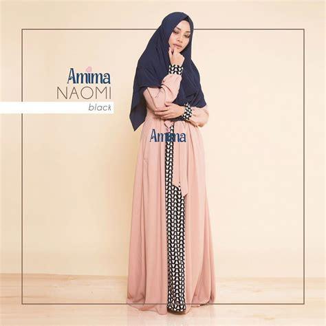 gamis amima naomi dress black baju muslim wanita baju