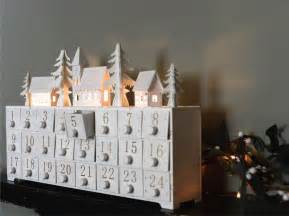 wooden led lit advent calendar by the forest co notonthehighstreet com