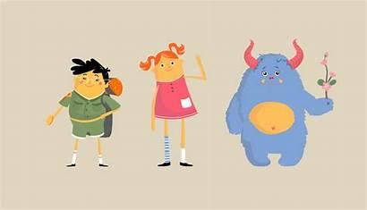 Flat Character Examples Inspiration Graphicmama Yuriy Kate