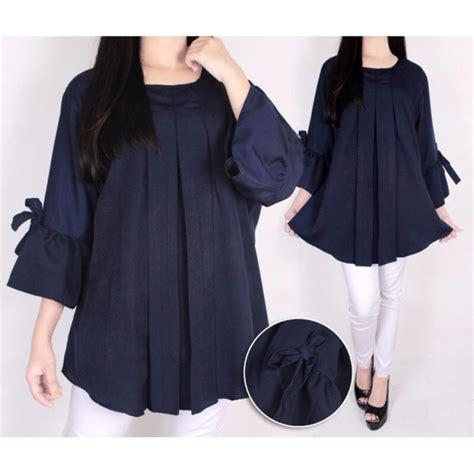 restock blouse wanita big size plain blouse atasan