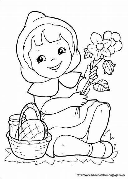 Riding Coloring Pages Hood Printable