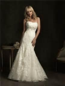 fitted wedding gowns slim fitted mermaid strapless empire waist ivory lace wedding dress