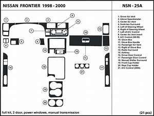 Dash Kit Trim For Frontier 2 Doors  With Power Windows  Manual Shifter 98