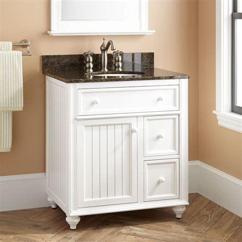 cottage retreat vanity  undermount sink white
