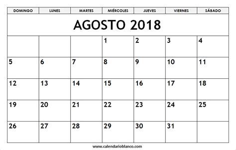 calendario agosto   imprimir