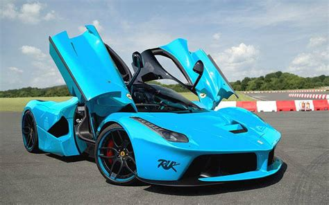 cars ferrari blue ferrari laferrari rendered in baby blue