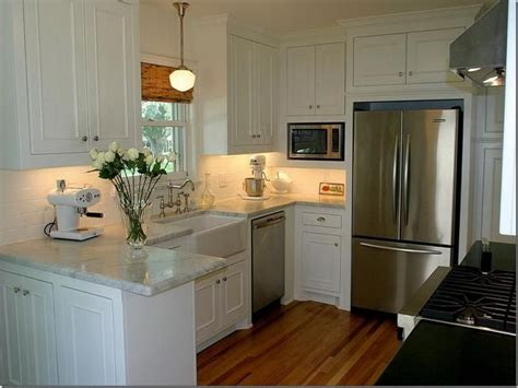 Small White Kitchen Ideas by 5 Interesting Small Kitchen With White Cabinets Digital