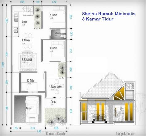 desain rumah minimalis ukuran  desain rumah