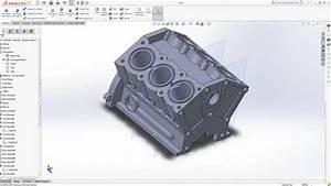Solidworks Tutorial V6 Engine Block  Part 2