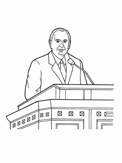 Conference General Lds Clipart Coloring Thomas Prophets