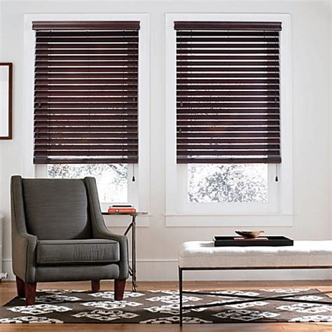 real simple blinds real simple 174 real wood window blinds bed bath beyond
