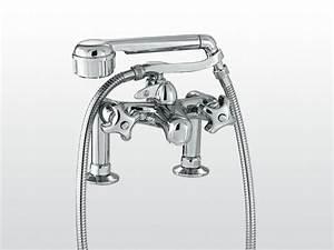 robinet pour baignoire 2 trous avec douchette emisfero With robinet de baignoire avec douchette