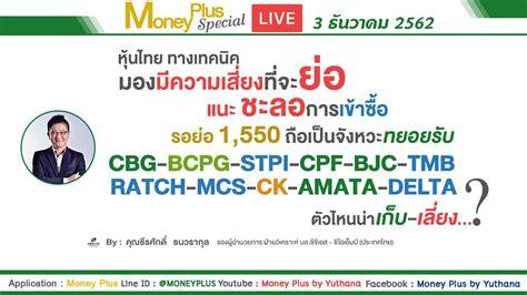 Money Plus by Yuthana - SETทางเทคนิคมองมีความเสี่ยงที่จะ ...