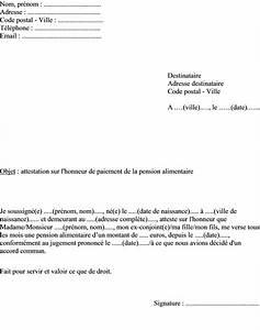 Lettre Declaration Sinistre : mod les attestation sur l honneur de versement de la pension alimentaire et de non paiement de ~ Gottalentnigeria.com Avis de Voitures