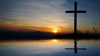 Ugly Truth Reflection Cross Water Landscape Religious
