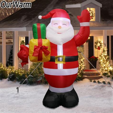 large blow up christmas decorations ourwarm santa claus outdoors decorations for home yard garden decoration