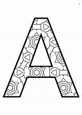 Coloring Alphabet Pages Instant sketch template