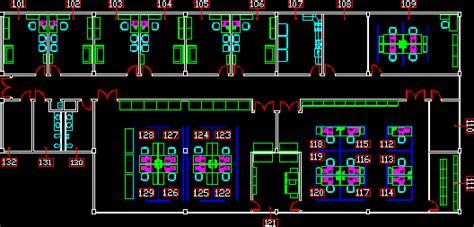 office module  dwg plan  autocad designscad