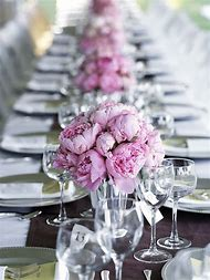 Peony Bridal Shower Centerpieces