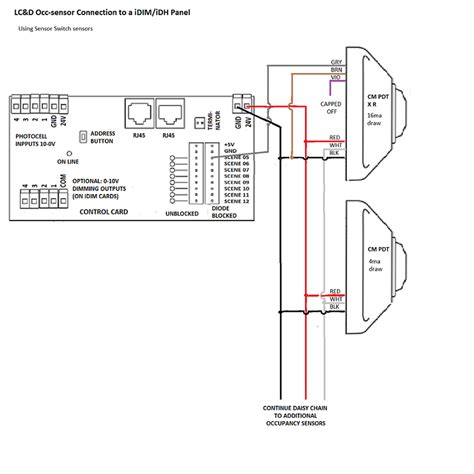 Photocell Panel Wiring Diagram by Wattstopper Occupancy Sensor Wiring Diagram Schematic